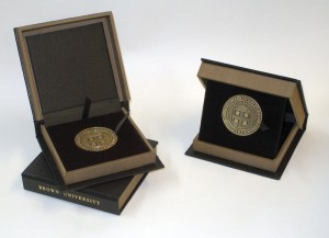 brown medallion boxes